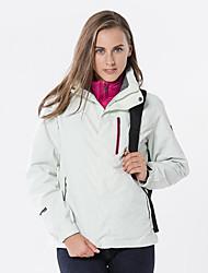 Недорогие -Жен. Куртка для туризма и прогулок на открытом воздухе Осень Весна Зима С защитой от ветра Дожденепроницаемый Воздухопроницаемость Мягкость Чинлон Куртки 3-в-1 Верхняя часть Односторонняя
