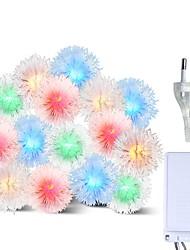 Недорогие -Brelong красочные водонепроницаемые праздничные украшения 100led строка строка волос мяч