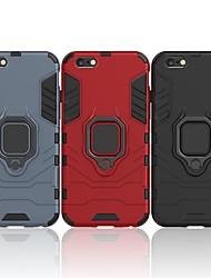 billiga -fodral Till Apple iPhone 6 / iPhone 6s Stötsäker / Ringhållare Skal Enfärgad / Rustning Hårt PC för iPhone 6s / iPhone 6