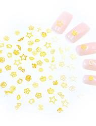 Недорогие -Искусственные советы для ногтей 3D наклейки на ногти Стразы для ногтей Глянцевый / Мини / 3D интерфейс Тату с тотемом Тату с животными Тату с цветами маникюр Маникюр педикюр Металл