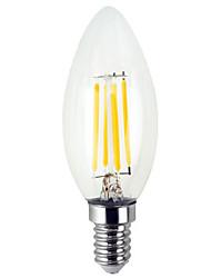 Недорогие -ywxlight® e12 4 Вт 300-400lm Светодиодная лампа Ретро Эдисон Лампа Светодиодная лампа накаливания Ретро Светодиодные шарики холодный белый теплый белый ac110-130 В
