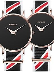 Недорогие -Kopeck Для пары Наручные часы электронные часы Японский Японский кварц Нейлон Черный / Серый / Небесно-голубой 30 m Защита от влаги Повседневные часы Аналоговый Мода минималист - Черный Серый Синий