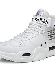 Недорогие -Муж. Комфортная обувь Кожа Зима Спортивные / На каждый день Спортивная обувь Беговая обувь Нескользкий Лозунг Серый / Черно-белый / Красный