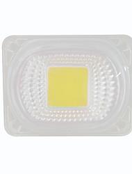 Недорогие -1шт 50 Вт 220 В початок светодиодный чип с линзой для diy прожектор белый теплый белый