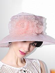 Недорогие -Elizabeth Чудесная миссис Мейзел Жен. Взрослые Дамы Ретро Фетровые шляпы Кентукки шляпа дерби шляпа Розовый Цветы органза Головные уборы