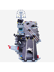 Недорогие -Конструкторы Конструкторы Игрушки Обучающая игрушка 400-800 pcs Армия совместимый Legoing моделирование Ручная работа Авианосец Все Мальчики Девочки Игрушки Подарок