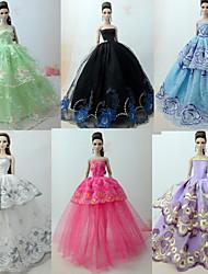 Недорогие -Прицесса / Элегантный стиль / С пышной юбкой Платья 6 pcs Для Кукла Барби органза Одежда для кукол Для Девичий игрушки куклы