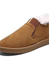 お買い得  -男性用 革靴 PUレザー 冬 カジュアル / プレッピー ローファー&スリップアドオン 証明書を着用する ブラック / グレー / Brown