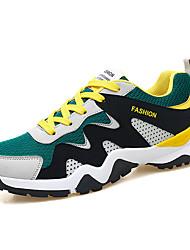 baratos -Homens Sapatos Confortáveis Com Transparência Verão Esportivo Tênis Corrida Amarelo / Branco e Preto / Preto / Vermelho