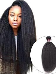 Недорогие -3 Связки Монгольские волосы Вытянутые 8A Натуральные волосы Необработанные натуральные волосы Головные уборы Человека ткет Волосы Сувениры для чаепития 8-28 дюймовый Естественный цвет