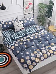 levne -Povlečení Květinový Polyester S potiskem 4 kusyBedding Sets