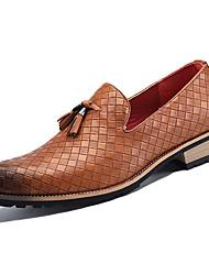 hesapli -Erkek Ayakkabı PU Kış Günlük Mokasen & Bağcıksız Ayakkabılar Günlük için Siyah / Gümüş / Sarı
