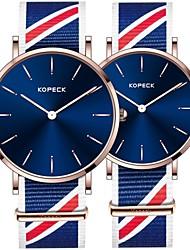 Недорогие -Kopeck Для пары Наручные часы электронные часы Японский Японский кварц Нейлон Черный / Синий / Серый 30 m Защита от влаги Повседневные часы Аналоговый Мода Цветной - Черный Серый Синий