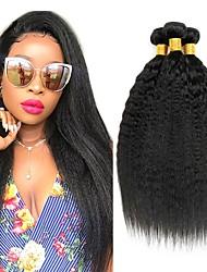 Недорогие -3 Связки Бразильские волосы Естественные прямые Вытянутые Натуральные волосы Подарки Человека ткет Волосы Уход за волосами 8-28 дюймовый Естественный цвет Ткет человеческих волос Машинное плетение
