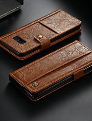 Недорогие -Кейс для Назначение SSamsung Galaxy Note 8 Кошелек / Бумажник для карт / со стендом Чехол Однотонный Твердый Кожа PU
