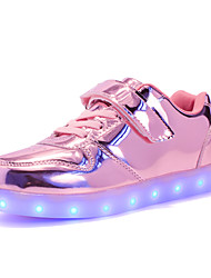 preiswerte -Jungen / Mädchen Schuhe PU Frühling / Herbst Leuchtende LED-Schuhe Sneakers Walking LED für Kinder Gold / Silber / Rosa