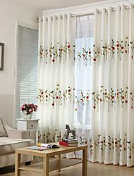 Недорогие -Деревенский 1 панель Лечение окно Спальня   Curtains / Вышивка