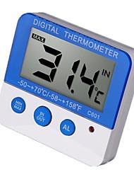 Недорогие -Цифровой термометр наружной сигнализации с водонепроницаемым наружным датчиком температуры C601