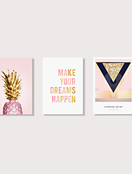 cheap -Print Stretched Canvas Prints - Words & Quotes Floral / Botanical Modern