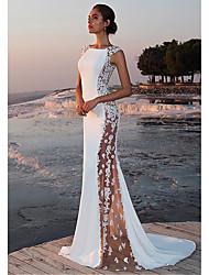 Недорогие -Жен. Элегантный стиль Облегающий силуэт Платье - Однотонный, Кружева Макси / Сексуальные платья
