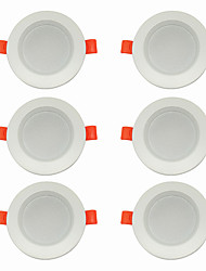 Недорогие -6шт 5 W 360 lm 10 Светодиодные бусины Простая установка Встроенные LED даунлайт Тёплый белый Холодный белый 220-240 V Дом / офис Гостиная / столовая / CE