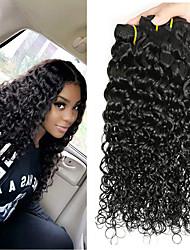 Недорогие -6 Связок Бразильские волосы Прямой Волнистые человеческие волосы Remy Головные уборы Человека ткет Волосы Сувениры для чаепития 8-28 дюймовый Естественный цвет Ткет человеческих волос