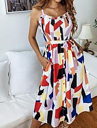 Недорогие -женское повседневное платье-футляр midi slim радуга s m l xl