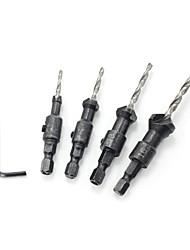 preiswerte -4 pcs Bohrer Praktisch Einfache Montage Sechskantkopf Factory OEM 4PC Fit für elektrische Bohrmaschinen Fit für andere Elektrowerkzeuge