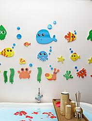 Недорогие -Декоративные наклейки на стены - Простые наклейки Геометрия Ванная комната