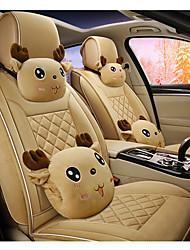 cheap -Car Seat Covers Headrest & Waist Cushion Kits Beige / Purple / Coffee Cotton / Wistiti Cartoon For universal All years All Models
