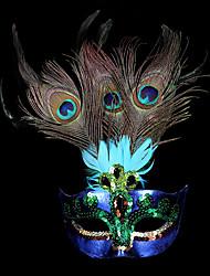 Недорогие -Принцесса Маски / Венецианская маска / Перьевая маска Взрослые Вечеринка Жен. Лиловый Пластик Для вечеринок Косплэй аксессуары Хэллоуин / Карнавал / Маскарад костюмы / Мужской / Половинная маска