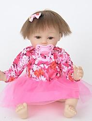 baratos -Bonecas Reborn Bebês Meninas 18 polegada Silicone Vinil - realista Confeccionada à Mão Fofo Segura Para Crianças Crianças / Adolescente Non Toxic de Criança Unisexo Brinquedos Dom