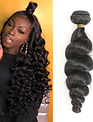 billige -1 pakke Brasiliansk hår Løse bølger Remy Menneskehår Hairextensions med menneskehår 8-28 tommers Hårvever med menneskehår Myk Beste kvalitet Ny ankomst Hairextensions med menneskehår Dame