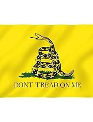 Недорогие -желтая змея чаепитие виновник не наступать на меня флаг баннер змея флаг для ктв-бар дома прати украшения хэллоуин