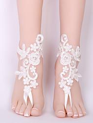 ราคาถูก -ลูกไม้ สร้อยข้อเท้า / ของโบราณ Wedding Garter กับ เข็มกลัด / ผูกริบบิ้น การตกแต่งงานแต่งงานที่ไม่ซ้ำใคร งานแต่งงาน / ปาร์ตี้