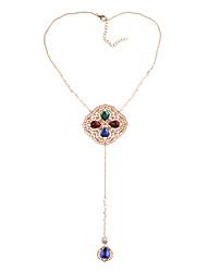 Недорогие -женский европейский / модный сплав / драгоценный камень&хрустальные ожерелья свитера