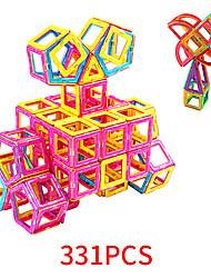 Недорогие -Магнитный конструктор Магнитные плитки 331 pcs Геометрический узор Все Мальчики Девочки Игрушки Подарок