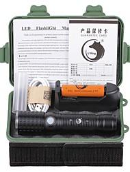 Недорогие -U'King Светодиодные фонари Светодиодная лампа LED излучатели 2000 lm 3 Режим освещения с батареей и зарядным устройством Масштабируемые Фокусировка Перезаряжаемый