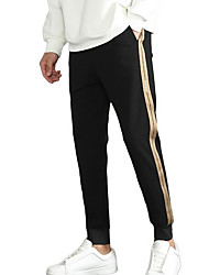 Недорогие -мужские узкие брюки чинос / спортивные штаны - однотонные черные