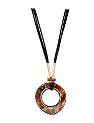 cheap -Women's Geometrical Long Necklace Resin Brown 94 cm Necklace Jewelry 1pc For Street Going out