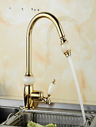cheap -Kitchen faucet - Single Handle One Hole Electroplated Pull-out / ­Pull-down Other Ordinary Kitchen Taps
