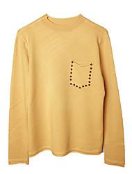povoljno -Žene Dnevno Osnovni Jednobojni Dugih rukava Regularna Pullover Bijela / Svjetloplav One-Size