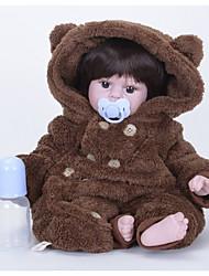 cheap -FeelWind Reborn Doll Girl Doll Baby Boy Baby Girl 22 inch Silicone Vinyl - lifelike Handmade Cute Kids / Teen Non-toxic Kid's Unisex Toy Gift