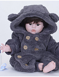 cheap -FeelWind Reborn Doll Baby Boy 22 inch Silicone Vinyl - lifelike Handmade Cute Kids / Teen Non-toxic Kid's Unisex Toy Gift