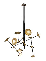 cheap -ZHISHU 9-Light Geometrical / Novelty Chandelier Ambient Light Painted Finishes Metal Glass Creative, New Design 110-120V / 220-240V