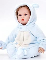 voordelige -FeelWind Reborn-poppen Baby jongens 22 inch(es) Siliconen Vinyl - levensecht Met de Hand Gemaakt Schattig Kinderen / Tieners Niet-giftig voor kinderen Unisex Speeltjes Geschenk