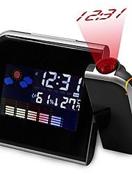 Недорогие -Brelong Black Snooze цифровой дисплей времени проекции будильник