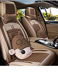 cheap -Car Seat Covers Headrest & Waist Cushion Kits Red / Blue / Pink Other Leather Type Cartoon For GM All years