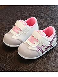 baratos -Para Meninos / Para Meninas Sapatos Com Transparência Primavera & Outono / Verão Conforto Tênis para Bebê Verde / Rosa claro / Azul Claro