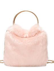 cheap -Women's Bags PU(Polyurethane) Tote Solid Color Black / Pink / Khaki